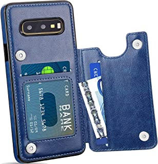 Galaxy S10E Wallet Case for Women/Men,S10E Leather Case with Card Holder,Auker Slim Thin Folio Flip Magnetic Secure Fit Back Wallet Case Shockproof Body Protective Purse Case with Cash Pocket