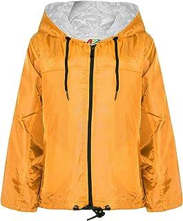 A2Z 4 Kids Girls Boys Jackets Showerproof Kagool Lightweight Jacket Hooded Rain Mac 5-13 Yr