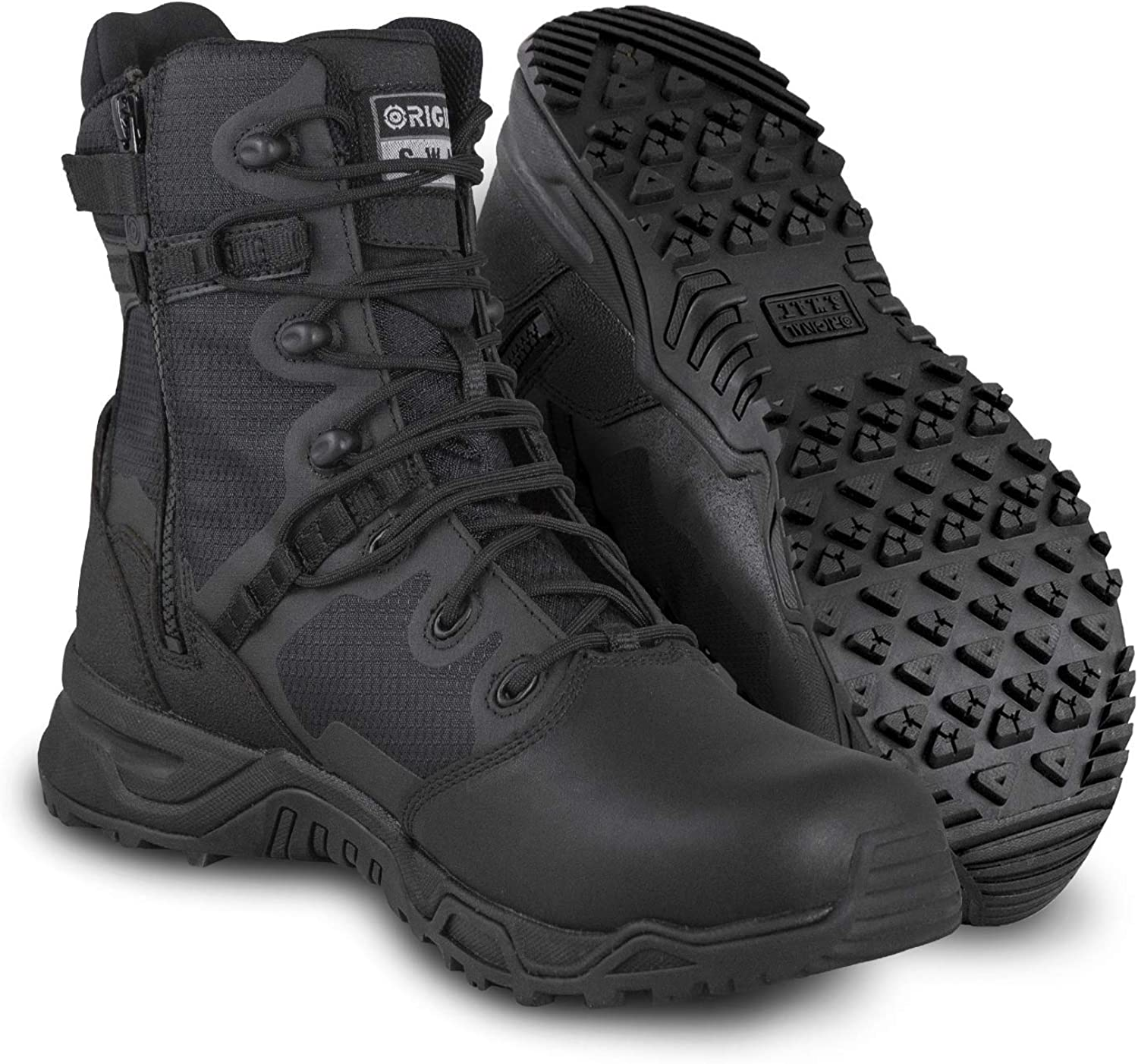 """Original S.W.A.T Men's Alpha Fury Tactical Popular Inexpensive brand in the world Boot 8"""" Zip Side"""