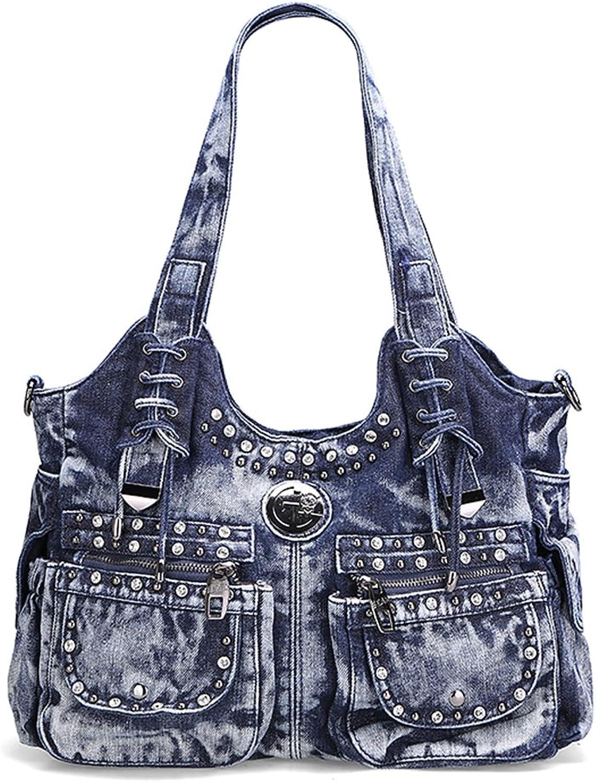 Genda 2Archer Women Casual Denim Shoulder Bag Tote Handbag Hobo Bag