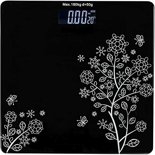 HAVILLA FASHION Electronic Thick Tempered Glass LCD Display Digital Personal Bathroom Health Body Weight Weighing Scales For Body Weight Weight Scale Digital For Human Body