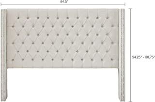 Best king tufted wingback headboard Reviews