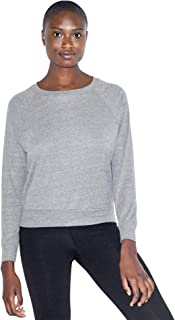 American Apparel Women`s Tri-Blend Lightweight Long Sleeve Pullover