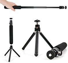 DURAGADGET Lightweight & Ultra-Portable, Telescopic 2-in-1 Tripod/Monopod (Selfie-Pod) for The Xiaomi MADV 360° Sphere Panoramic Camera Kit Orange | Xiaomi MiJia 360° Sphere Panoramic Camera