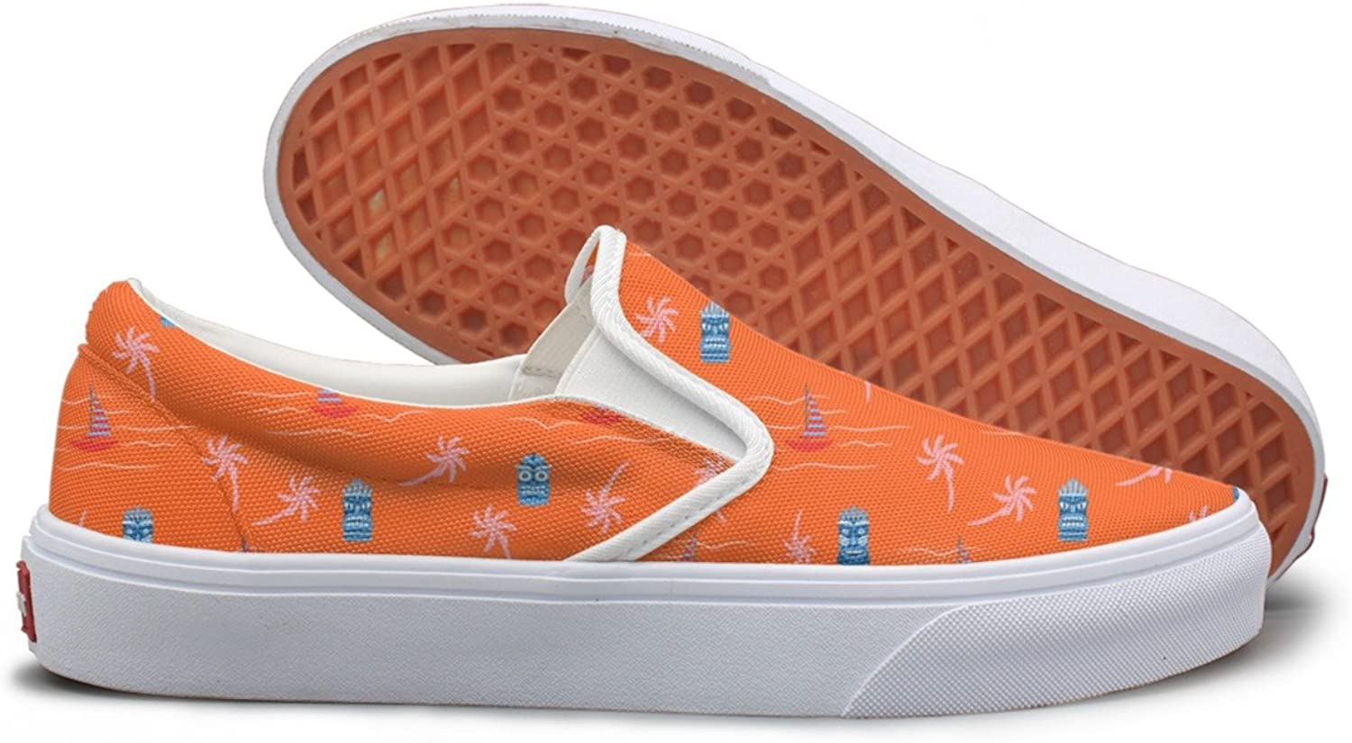 Casual orange Hot colors Aloha Hawaii Ocean Women Girls Canvas shoes