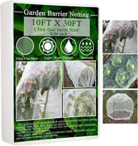 Garden Netting, Plant Covers 10x30 FT Garden Mesh Netting for Protect Vegetable Plants Fruits Flowers Crops Greenhouse Row Cover Protection Mesh Net Covers Patio Gazebo Screen Barrier Net