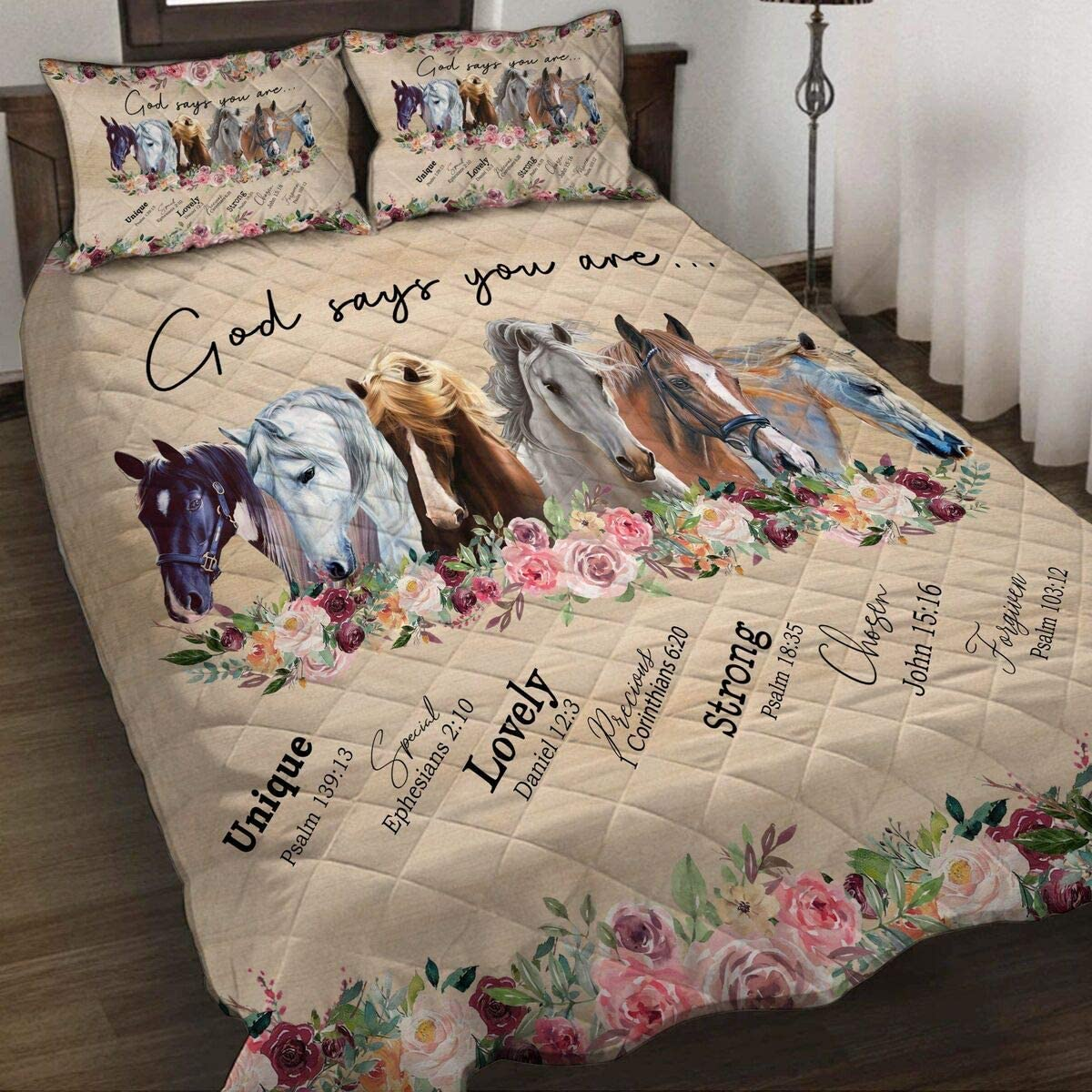 Limited price sale Felacia God Says You are Horse Lit Quilt Birthday Cheap sale Sets Christmas