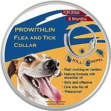 prowithlin Collar Antipulgas Ajustable para Perros Pequeños, Medianos y Grandes - Impermeable | Tratamiento de Pulgas para Perros - 8 Meses de Protección Efectiva - Aceite Esencial Natural