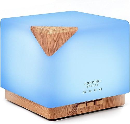 ASAKUKI 700ml Premium, Essential Oil Diffuser, 5 in 1 Ultrasonic Aromatherapy Fragrant Oil Vaporizer Humidifier, Time...