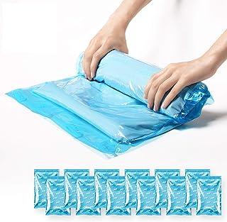 TAILI 圧縮袋 衣類圧縮袋 12枚入(40x60cm) 掃除機不要 防塵 防湿 防虫 防カビ 抗菌効果 再利用可能 衣替え 旅行用 引越し用 出張用