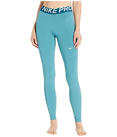 Nike Pro Tights (Mineral Teal/Midnight Turquoise/White) Women