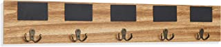 Danya B. BR181022 Rustic Wall Mount Entryway Coat Rack with 5 Metal Double Hooks and Chalkboard Tags