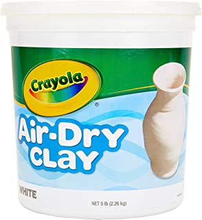 Crayola Products - Crayola - Air-Dry Clay, 5 lbs., White - Sold As 1 Each - The clay makes solid, durable forms without need for baking in an oven or firing in a kiln. - Smoother, finer and less sticky than traditional clay. - Softens easily with water. - Quickly cleans from hands and surfaces. - Paint with tempera, acrylic or watercolors when dry.