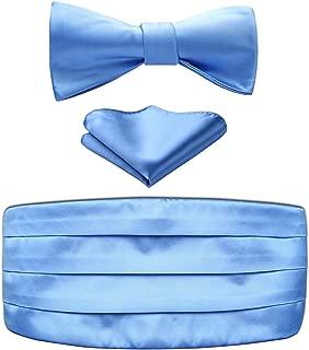 Men's Cummerbund Solid Bow Tie and Handkerchief Set