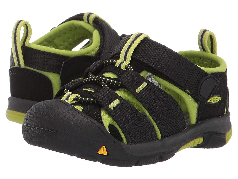 Keen Kids Newport H2 (Toddler) (Black/Lime Green) Kids Shoes