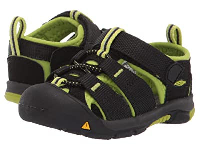 KEEN Kids Newport H2 (Toddler) (Black/Lime Green) Kids Shoes