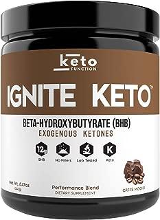 IGNITE KETO BHB Salts - Exogenous Ketones Supplement with 12g Pure BHB - IGNITE Ketosis, Energy, Focus and Fat Burn - Fuel a Ketogenic Diet (Mocha)