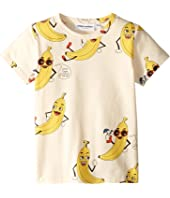 mini rodini - Banana All Over Print Short Sleeve Tee (Infant/Toddler/Little Kids/Big Kids)