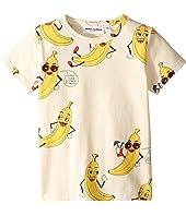 mini rodini - Banana All Over Print Short Sleeve Tee (Infant/Toddler/Little Kids/Big Kids)
