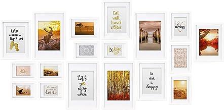 bomoe Zestaw 18 ramek na zdjęcia Passion Kolagenowe ramki na zdjęcia z drewna, szkła z tworzywa sztucznego, zawieszki meta...