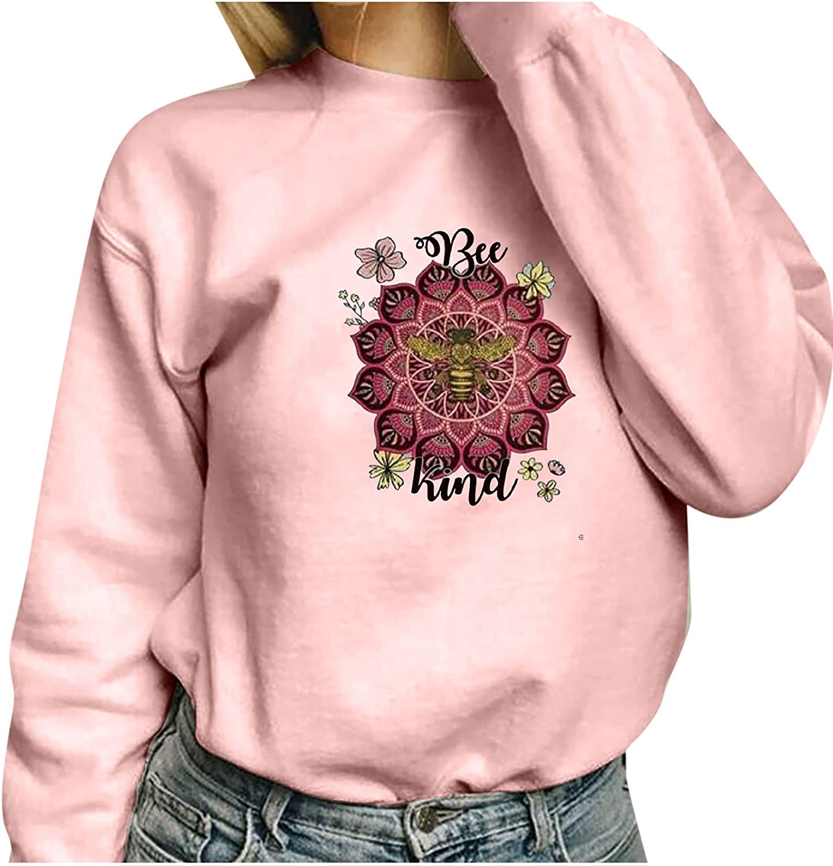 Women's Fashion Printing Hoodies Casual O-Neck Pullover Loose Long Sleeve Ladies Sweatshirts Tops