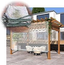 LIANGJUN transparant dekzeil, 0,5 mm dik, duurzaam kunststof, stofdicht dekzeil, met oogjes, tentzeilen voor het dak, pavi...