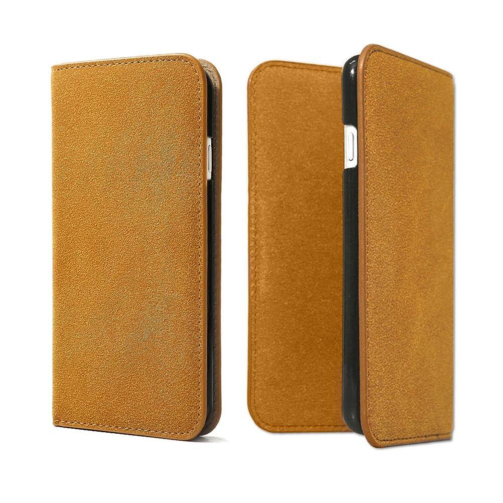 露出度の高い放置玉ねぎアグレス iPod touch 5 アイポッドタッチ ケース 手帳型 スエード キャメル