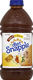 DIET SNAPPLE HLF & HLF ICD T LMND LIQUID PREPARED ICED TEA PLASTIC BOTTLE 64 OZ - 0076183000221