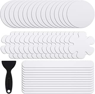 44 Pieces Non-Slip Bathtub Stickers Anti-Slip Showers Stickers Shower Treads Adhesive Decals with Scraper for Tubs Bath