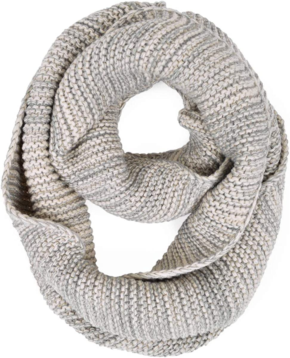 Two-Tone Winter Knit Reservation Warm Loop Scarf Circle Infinity Max 68% OFF