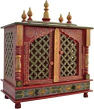 Fasherati Wooden Temple(Outer Size: Width: 46 cm, Depth: 23 cm, Height: 55 cm)/Home Temple/Pooja Mandir/Pooja Mandap/Templ...