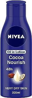 NIVEA Body Lotion for Very Dry Skin, Cocoa Nourish, with Coconut Oil & Cocoa Butter, For Men & Women, 200 ml