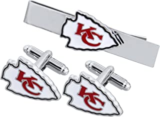 Promotioneer Men's The Team Logo Symbol Series Cufflinks and Tie Clip with Gift Box