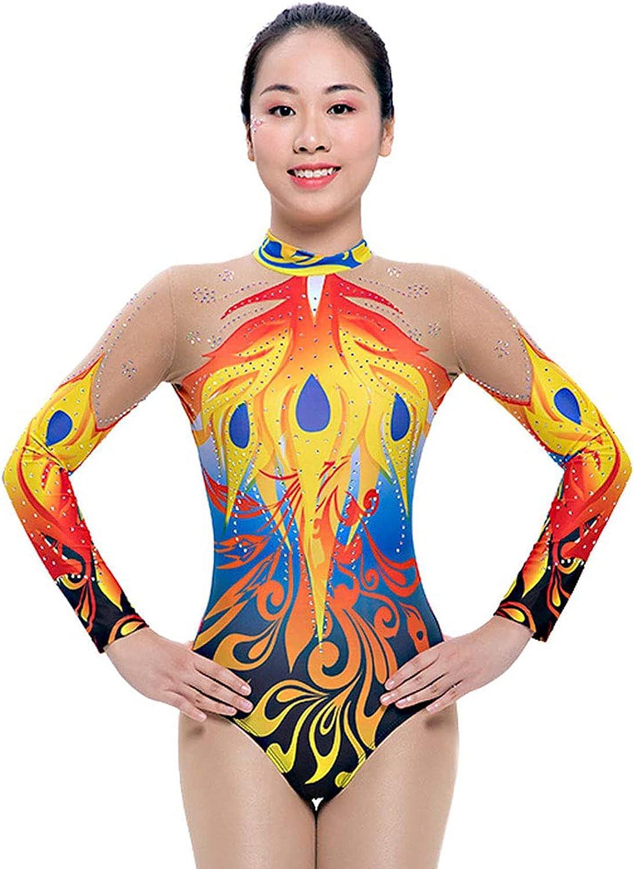 Rhythmic Gymnastics Be super welcome Leotards Girl Women Sleeve 5 ☆ very popular Fabric Long Soft