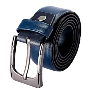 Andora Faux Leather Single Metal Tongue Buckle Classic Belt for Men