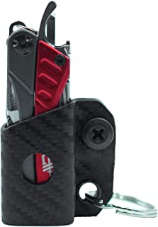 Clip & Carry Kydex Multi-Tool Sheath for GERBER DIME/LEATHERMAN SQUIRT PS4 - Made in USA - Multi Tool Multitool Sheath Holder Holster Cover (Carbon Fiber Black)