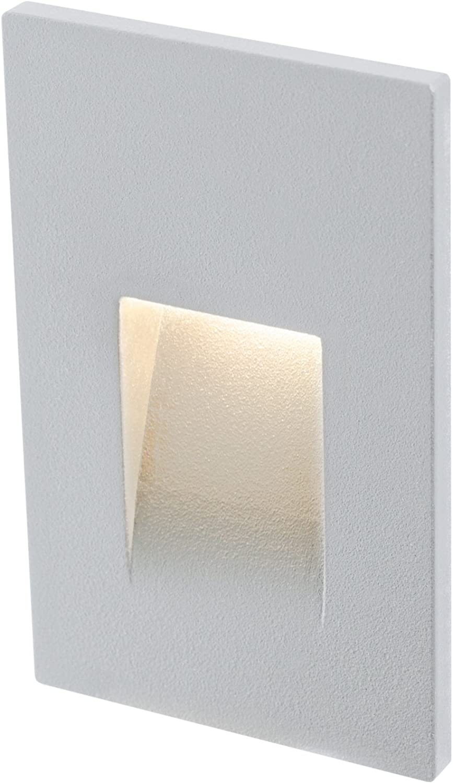 DALS Lighting LEDSTEP002D-SG 3  Recessed greenical Indoor Outdoor LED Step Light Satin Grey