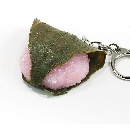 食品サンプルキーホルダー 食べちゃいそうな桜餅 081OK