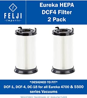 Felji 2 Pack HEPA Filter Replacement for Eureka DCF-1, DCF-4, DCF-18 Filters for All Eureka 4700 & 5500 Series vacuums - Compare to Eureka Part 62132, 63073, 61770, 3690, 28608-1