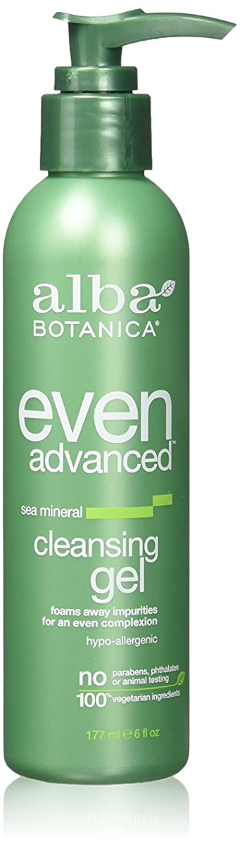 軽減するこねる模倣Alba Botanica, Even Advanced, Cleansing Gel, Sea Mineral, 6 fl oz (177 ml)