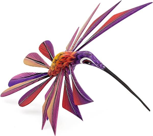 NOVICA 224616 Purple Hummingbird Alebrije Sculpture 3 Tall