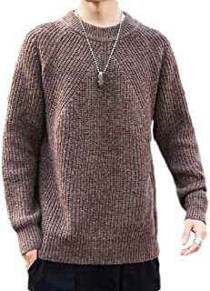 Macondoo Men Thick Top Crewneck Long-Sleeve Warm Pullover Sweaters