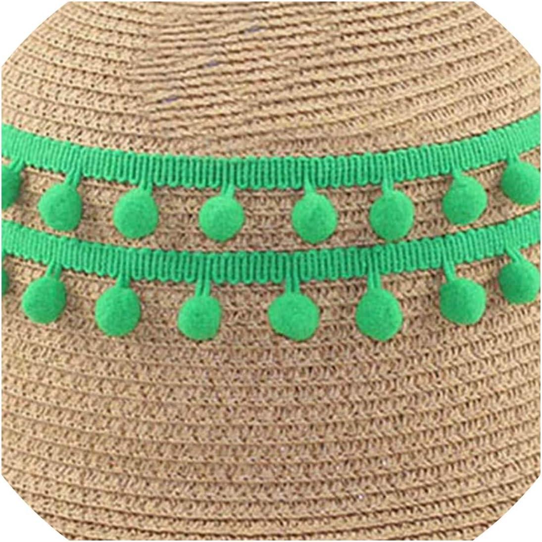 DIY Craft 20Yards//Lot Pompom Trim Pom Decoration Tassel Ball Fringe Ribbon Home Decoration Material Apparel Sewing Accessories,No.1
