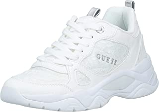 GUESS Flaus Women's Athletic & Outdoor Shoes, White (White/Multicolor WHMLL), 37 EU