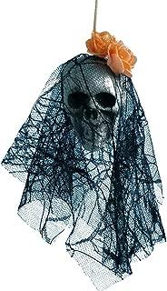Chenway 2pcs Halloween Hanging Skull Decorations Outdoor Tree Halloween Hanging Decor Pirates Corpse Skull Haunted House (G)