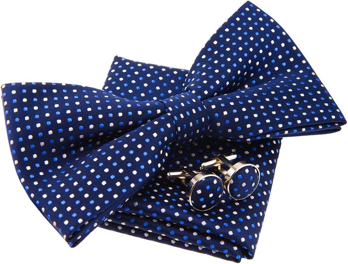 Tiny Polka Dots Woven Pre-tied Bow Tie (5
