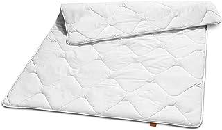 sleepling 190034 Basic 100 Sommer Bettdecke Mikrofaser leicht 155 x 220 cm, weiß