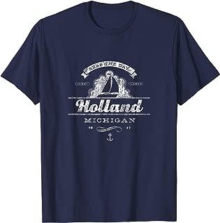 Holland MI Sailboat T-Shirt Vintage Nautical Throwback Tee