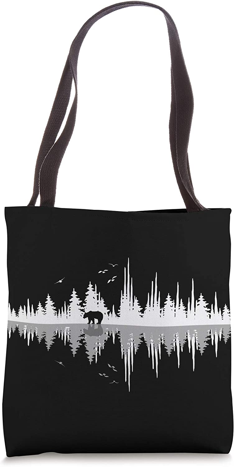 The Sound Of Nature- Sound Waves Tote Bag