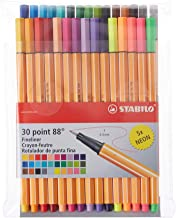 Stabilo Point 88 Fineliner Pens, 0.4 mm - 30-Color Set